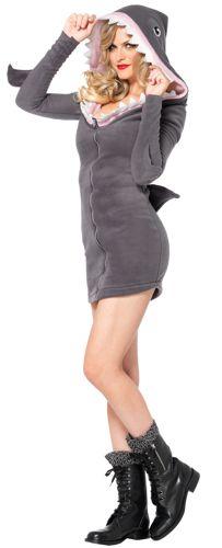 SHARK COZY DRESS ADULT SMALL
