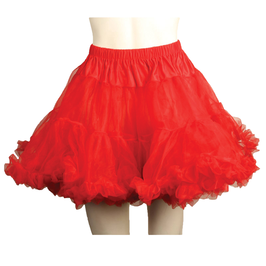 PETTICOAT TULLE LAYERED RED