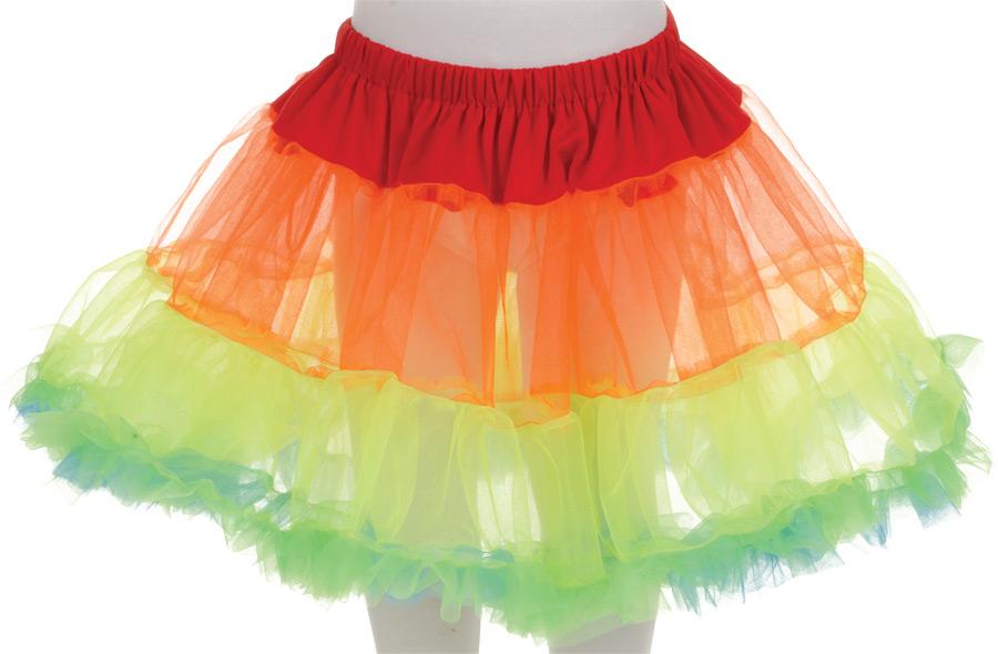 PETTICOAT TUTU CHILD RAINBOW