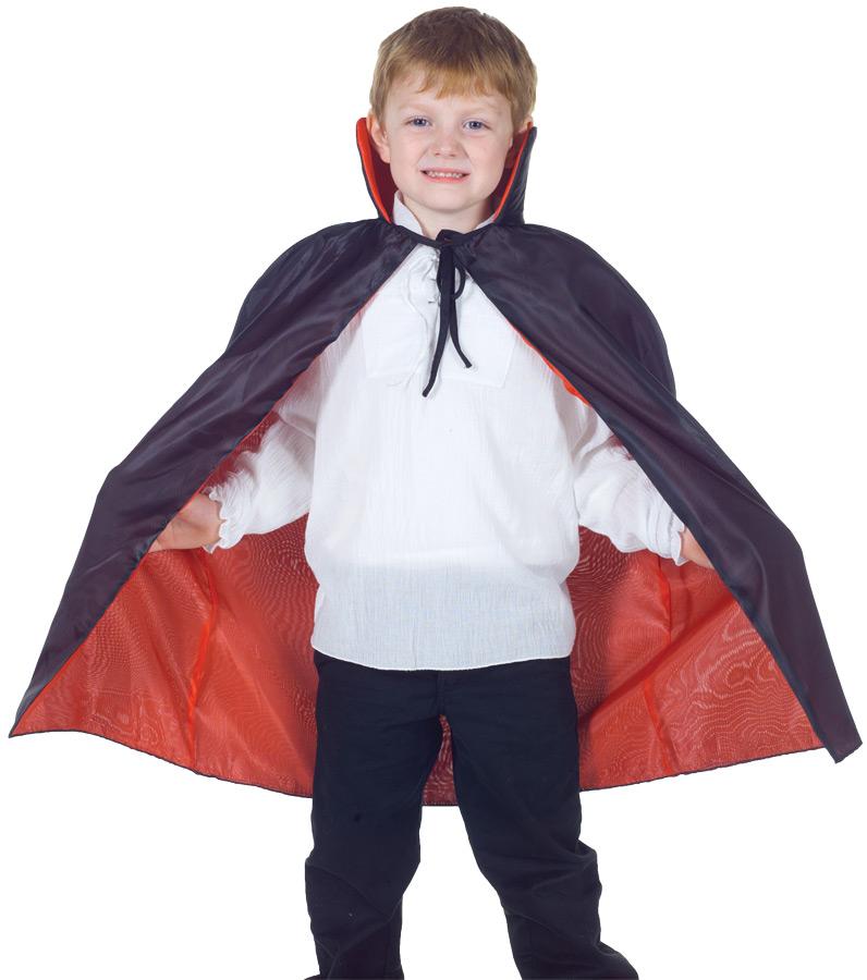 CAPE TAFFETA CHILD RED/BLACK
