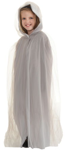 CAPE TULLE CHILD GREY