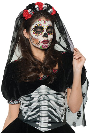 DAY OF THE DEAD MANTILLA DLX