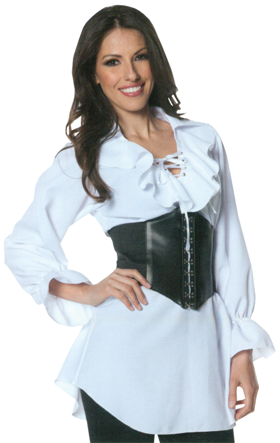 PIRATE LACED FRONT BLOUSE SMAL