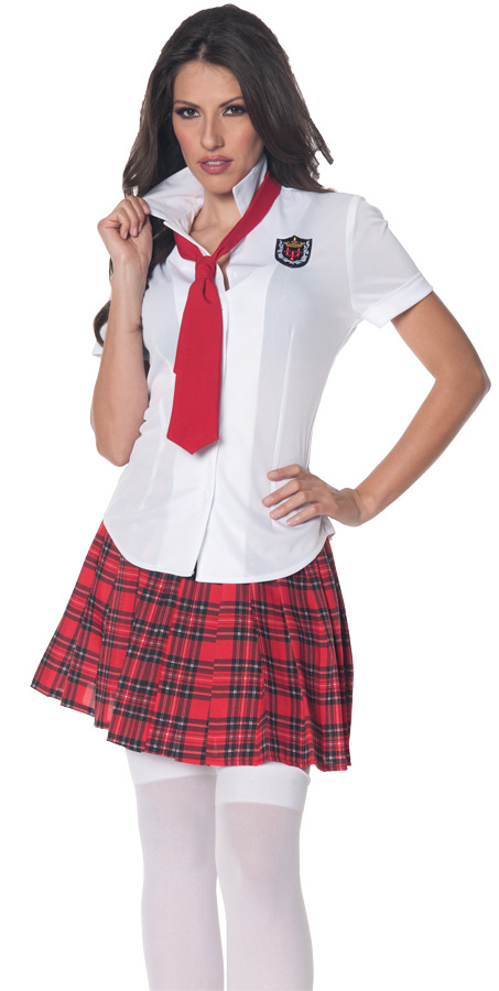 SCHOOL GIRL FITTED SHIRT SMALL