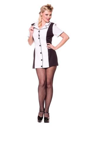 BOWLING DRESS BLACK/WHITE XL