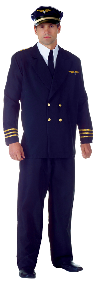 AIRLINE CAPTAIN ADULT BLACK XX