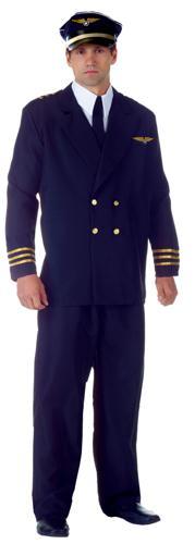 AIRLINE CAPTAIN ADULT BLACK XX