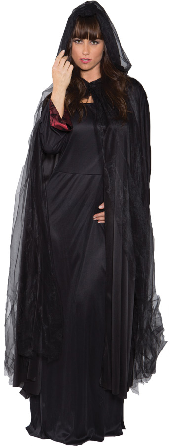GHOST CAPE FULL BLACK ADULT
