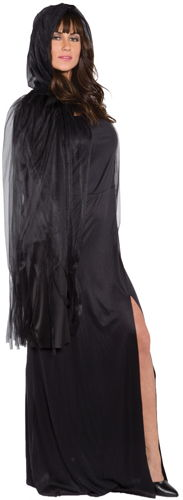 GHOST CAPE 3/4  BLACK ADULT