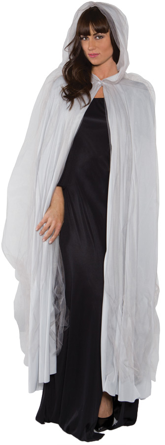 GHOST CAPE FULL GREY ADULT