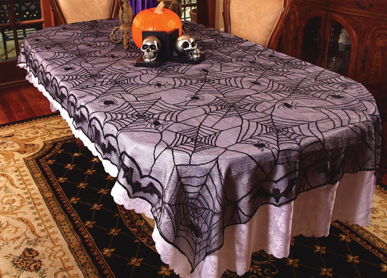 LACE SPIDER WEB TABLE CLOTH 48